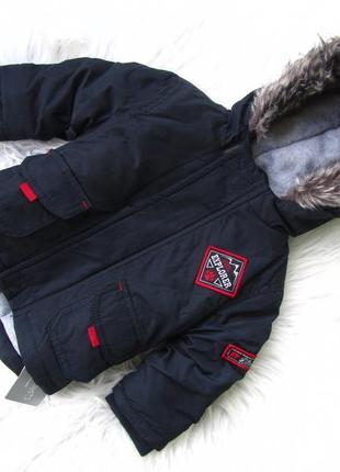 Стильная теплая куртка парка с капюшоном early days primark