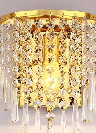 Бра,настенный хрустальный светильник 220 В E14