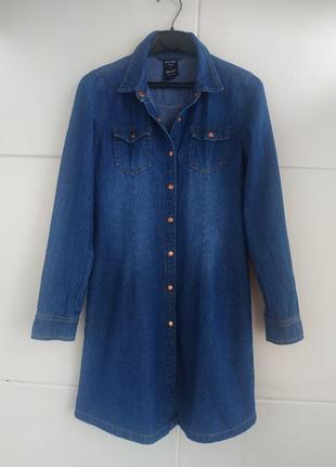 Джинсовое платье-рубашка для девочки 11-12 лет primark синего ...