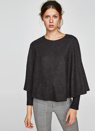 Оригинальный свитер-кейп zara