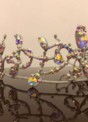 Корона диадема ручной работы камни класса люкс swarovski