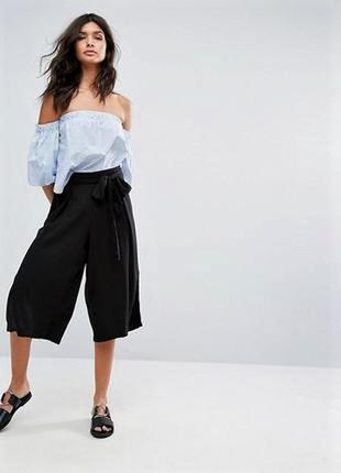 Хит сезона👌 базовые укороченные широкие брюки-кюлоты- палаццо
