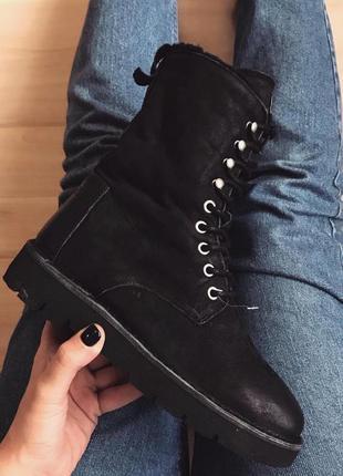 Кожаные зимние сапоги высокие ботинки  shabbies amsterdam boot...