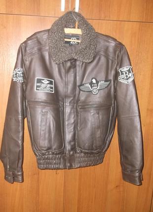 Куртка пилота натуральная кожа