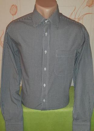 Стильная рубашка в клетку marks&spencer,  pure cotton