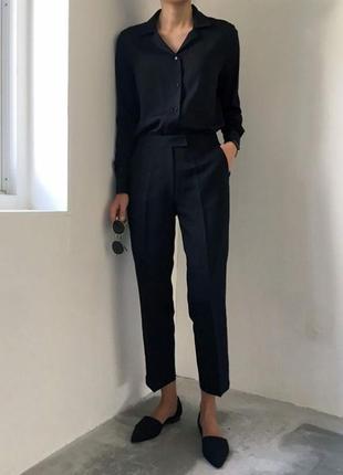 Новые,чёрные,классические штаны, брюки,офисные,хлопок,h&m