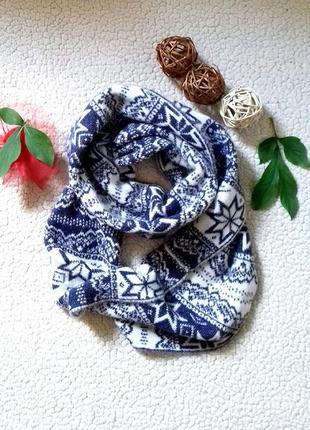 Теплый хамут шарф