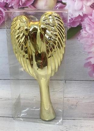 Расческа- щетка для волос,цвет золотистый (маленькая) к.16046