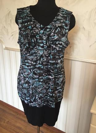 Оригинальное платье-туника размер 54 (48\50 евро).