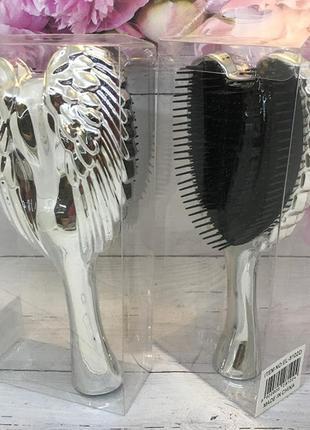 Расческа- щетка для волос,цвет серебрристый (большая) к.16028