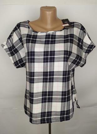 Блуза топ новая красивая в клетку marks&spencer uk 10/38/s