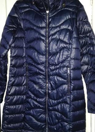 Новая женская демисезонная синня куртка пальто с капюшоном new...