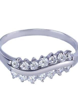 Кольцо из серебра 925 пробы с покрытием из родия эмилия