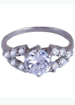 Кольцо из серебра 925 пробы с покрытием из родия «классик» с ф...