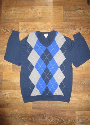 Бомбезный джемпер свитер большого размера