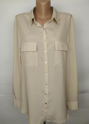 Блуза красивая кремовая шифоновая легкая marks&spencer uk 16/4...
