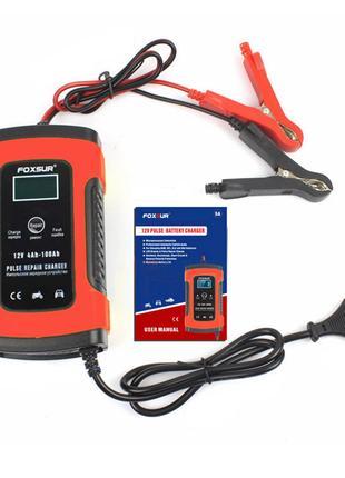 FOXSUR 12V 5A  Интелектуальное Зарядное устройство GEL/AGM/Свинец