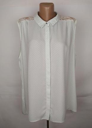 Блуза красивая с кружевом по спинке большой размер tu uk 22/50...