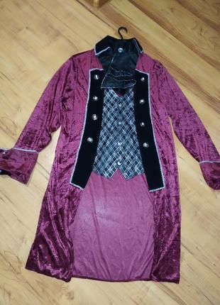 Камзол, мужской карнавальный костюм принц,пират