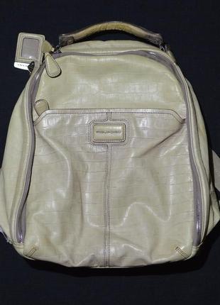 Рюкзак, портфель piquadro a09245295 beige backpack leather casual