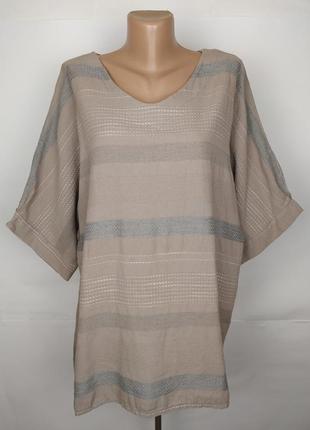 Блуза рубаха италия красивая лен хлопок uk 16-18/44-46/xl-xxl