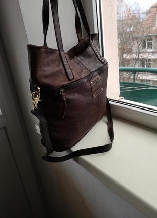 Кожаная сумка gianni conti