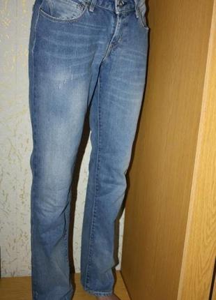 Трендовые прямые джинсы плотные на высокий рост