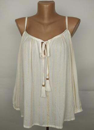 Новая красивая блуза с открытыми плечами springfield uk 10/38/s