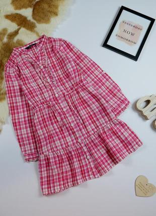 Рубашка-платье на 4-5 лет, рост 104-110 см