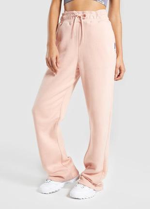 Теплые штаны с високой посадкой gymshark