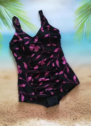 Шикардос! купальник мини-платье slimma в цветочный принт, с ут...