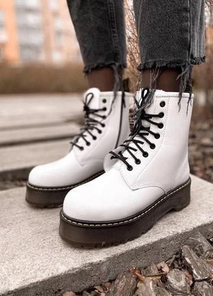 Dr.martens зимние женские ботинки на платформе мартинс с мехом...
