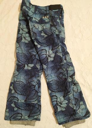 Брюки для зимних видов спорта, лыжные штаны на рост 140,унисекс