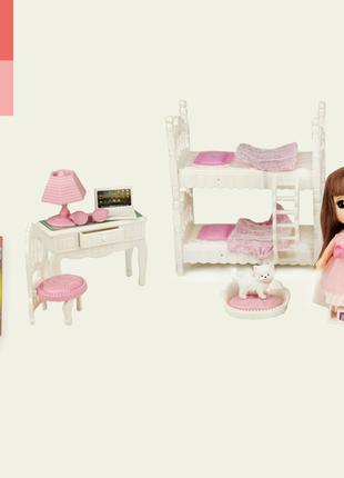 Кукла маленькая VC009F (1896014)(24шт) кровать,шкаф,стол,стул,...