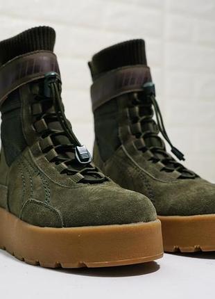 Женские зимние ботинки puma x fenty scuba boot military green ...