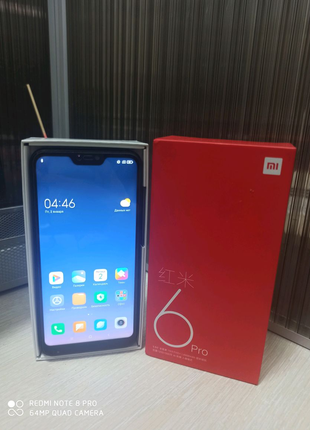 Xiaomi Redmi 6 Pro 4/32 GB  + подарки (стекло, чехлы, наушники)