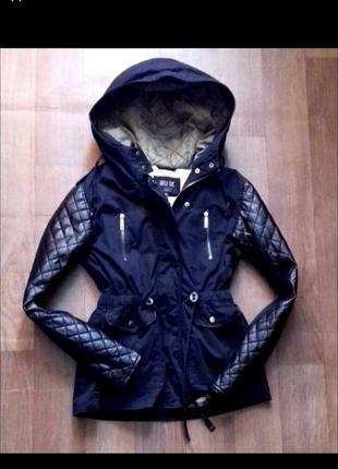 Стильная куртка парка на меху