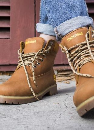 Ботинки натуральные на меху timb
