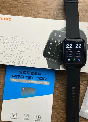 Xiaomi Mibro Color смарт часы + 2 ремешка и 3 пленки