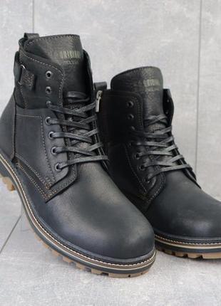 Мужские кожаные ботинки {натуральная кожа}