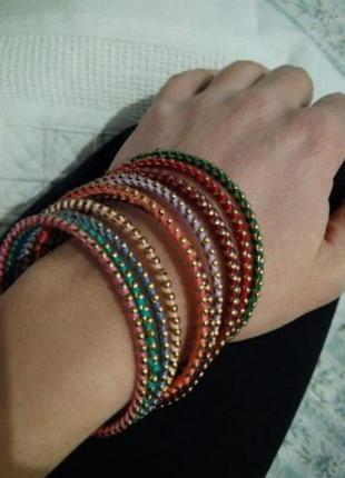 Индийские разноцветные браслеты , восточный стиль