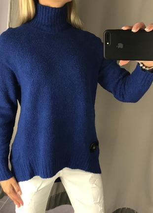 Свитер оверсайз тёплый свитерок с добавлением шерсти. amisu. р...