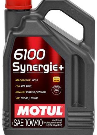 Масло моторное MOTUL 6100 SYNERGIE+ SAE 10W40 (5L)