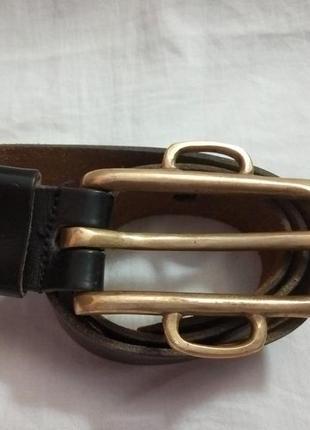 Кожаный ремень. made in france. размер 75