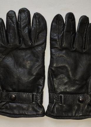 Кожаные перчатки debenhams. size m / 8