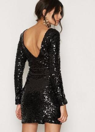 Пайетка!!новогоднее платье с открытой спиной--бренд--m morgan