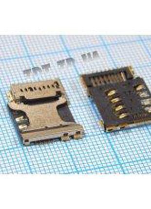 SIM коннектор для Samsung G350E Galaxy Star Advance Duos,I8262...