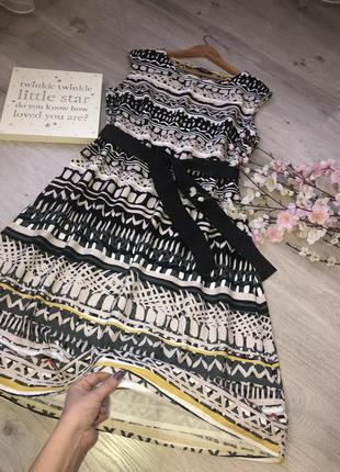 Очень красивое платье, платье с поясом, платье коттон,вискоза