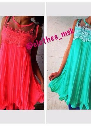 Воздушное лёгкое платье -10\12\14р - распродажа  #415