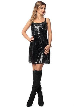 Брендовое черное вечернее нарядное миди платье we tweens by ka...
